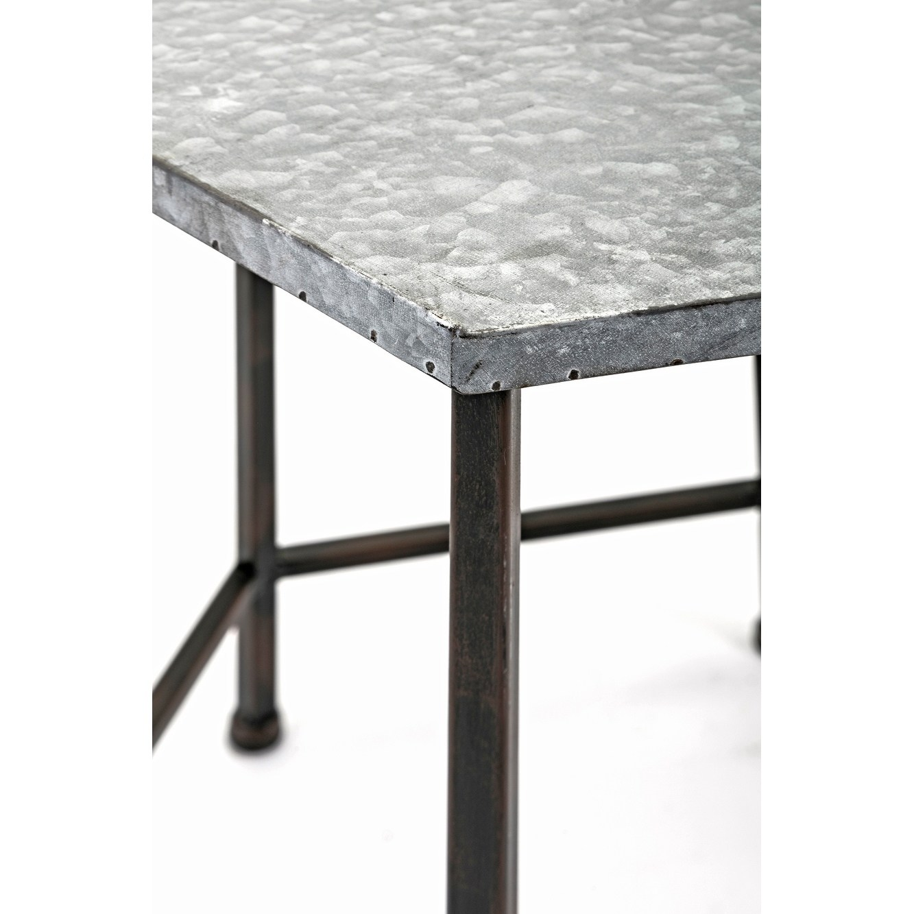 kendan galvanized black and grey accent tables set metal table free shipping today target dresser drawers antique pedestal side modern legs corner nightstand tablecloth couch