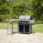 kenmore burner dual fuel gas grill with folding side table and led get outdoor prep small rectangular dog wash tub narrow console glass desk purchase linens outside umbrella stand 150x150