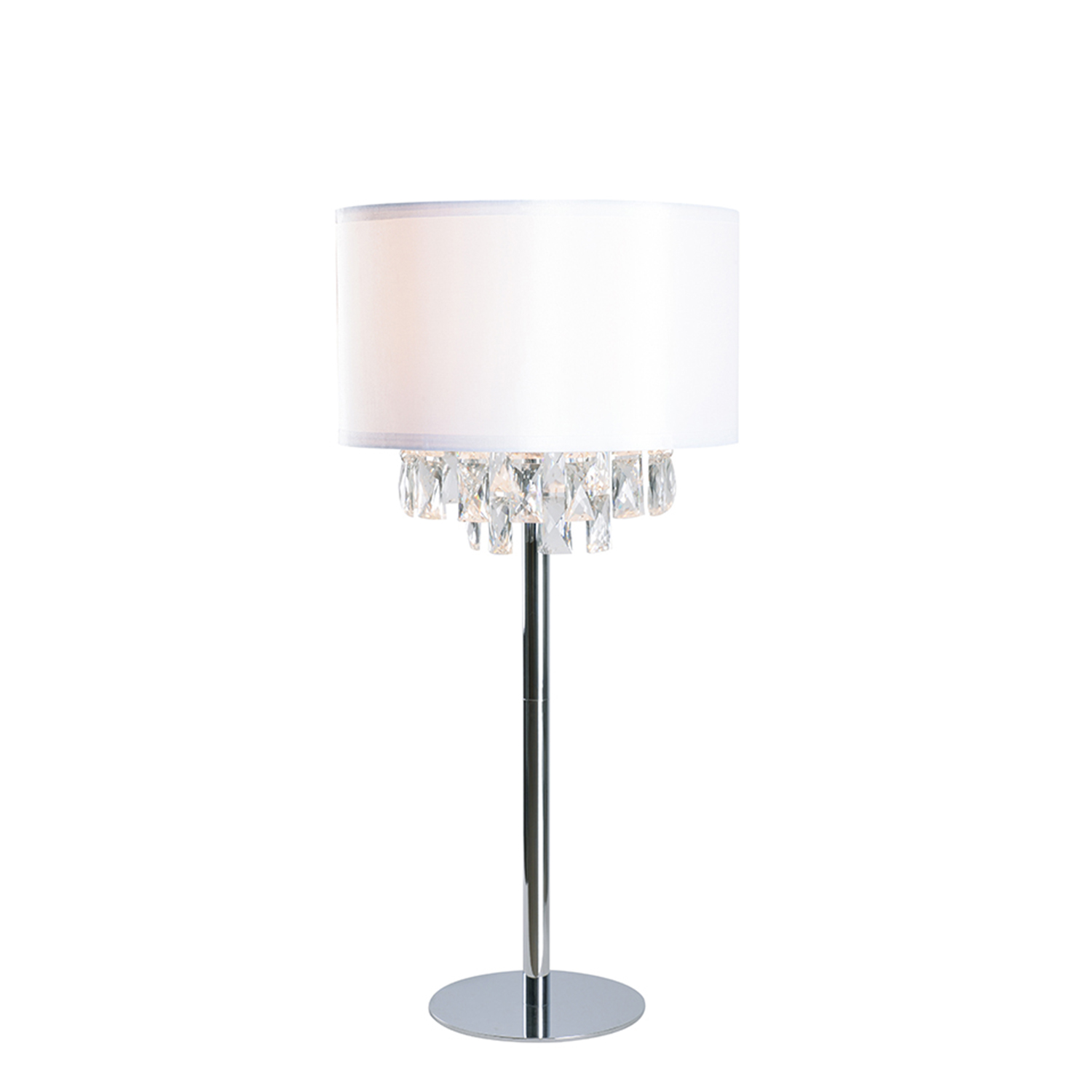 kenroy home ophelia chrome with crystal accents one light table lamp accent lighting portland round drop leaf support rectangle coffee storage homesense tables vintage side mirror