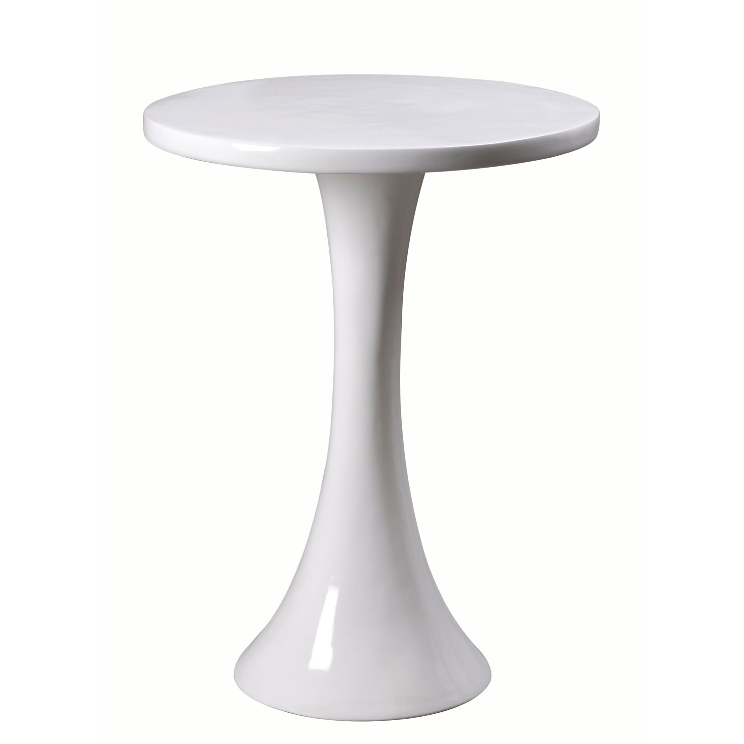 kenroy home snowbird gloss white accent table bellacor round marble top bistro red cover resin patio end beach themed room decor solid tables gray dinner set living spaces