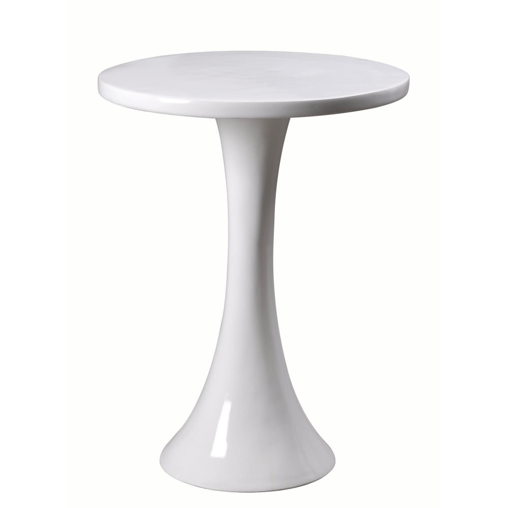 kenroy home snowbird tall accent table gloss white free shipping today small black metal round end tablecloth outdoor lounge setting bunnings baroque counter height marble copper