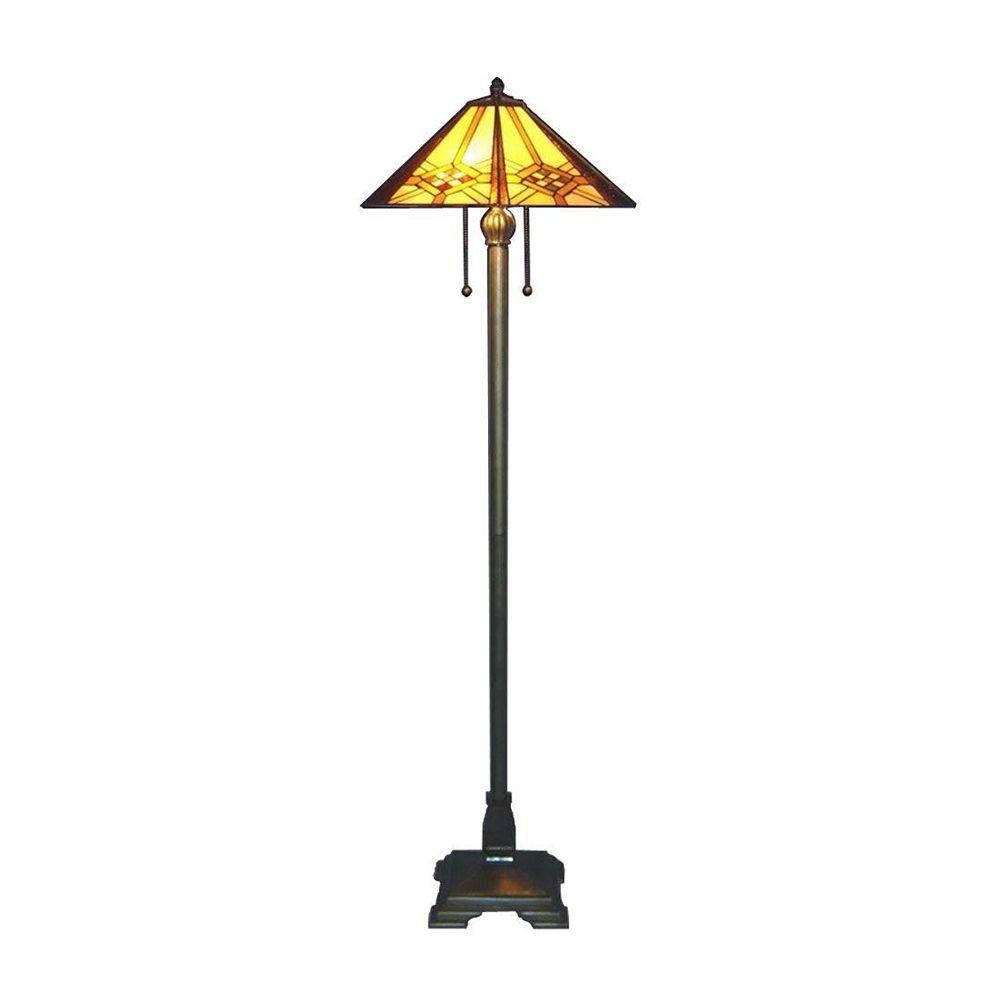 kenroy home trumpet bronze indoor floor lamp with cream shade amber rust yellow stained glass serena italia lamps meyda tiffany accent table hex mission blue side small iron