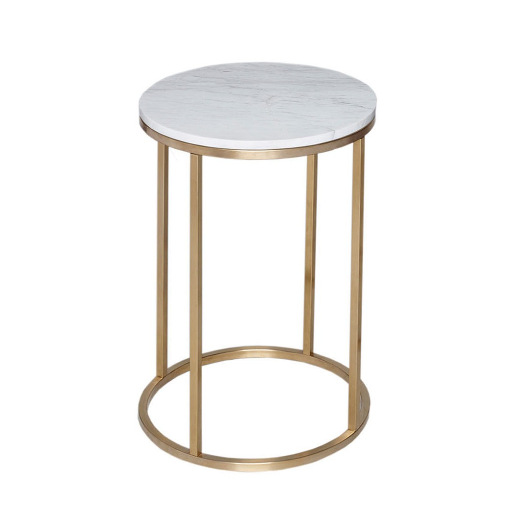 kentish round side table luxdeco copy brass accent grey nest tables ikea asian style bedside lamps small white console furniture pieces antique iron beds compact dining set resin