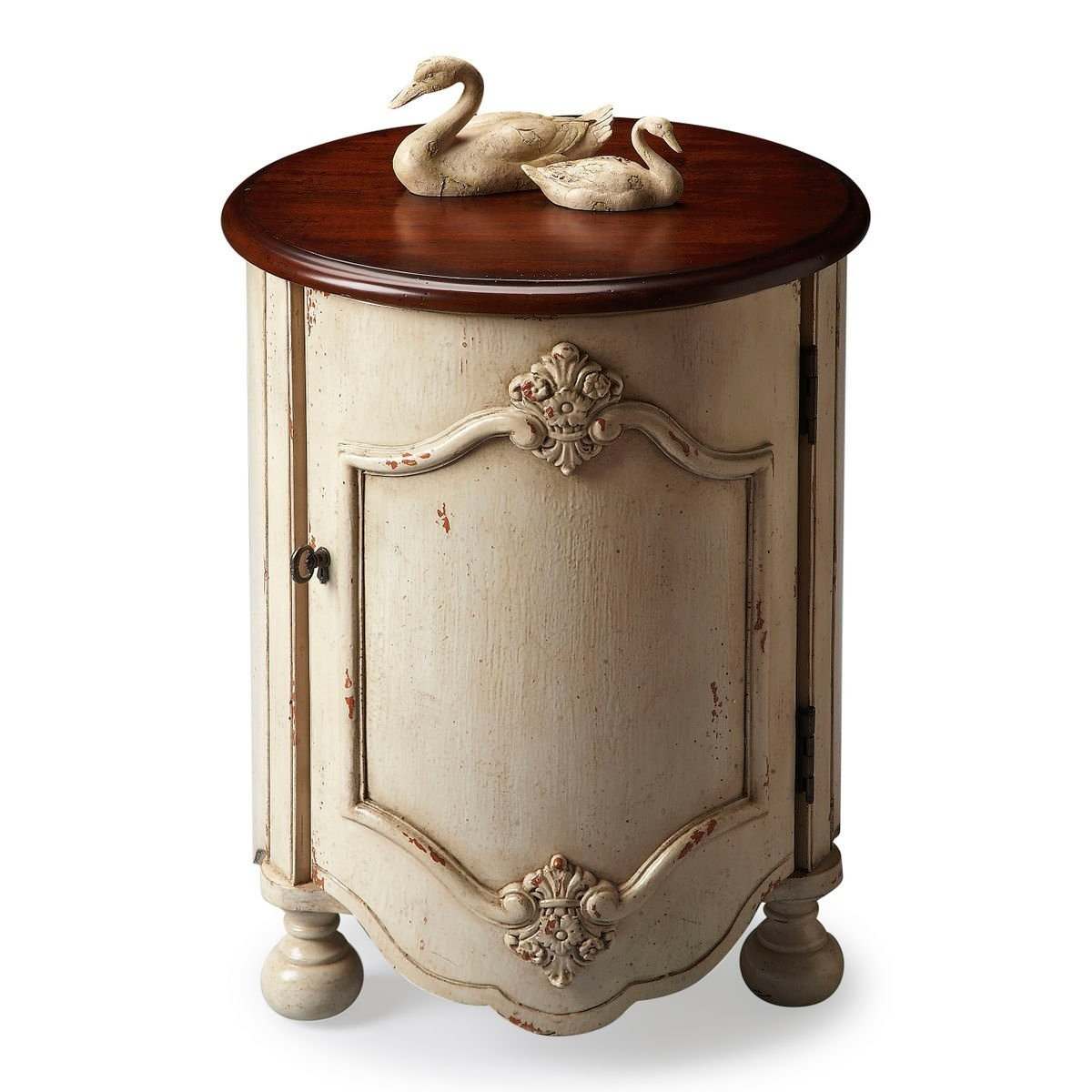 kenwood accent table vanilla with cherry wood top anja attic zinc trestle dark dining high nightstand large round wall clock outdoor patio covers storage bench foyer chest pottery
