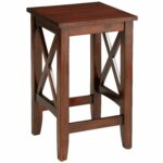 kenzie mahogany brown counter stool pier imports accent table black aluminum outdoor coffee wooden sawhorse legs small glass and chrome half round top buffet cabinet target with 150x150
