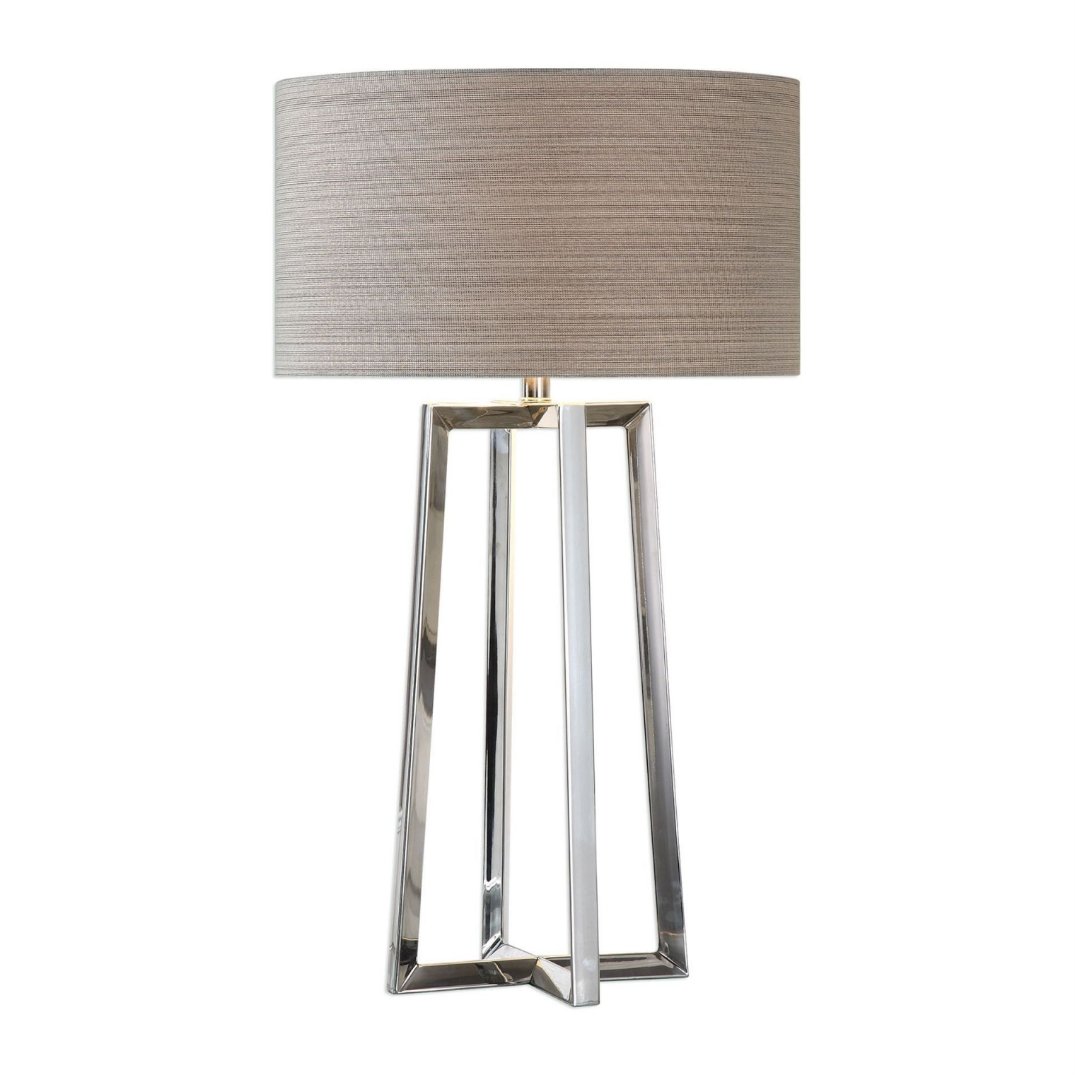 keokee contemporary stainless steel table lamp uttermost agha accent lamps vintage and chairs white gloss console lime green end magnussen pinebrook coffee red runner placemats