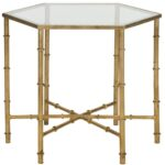 kerri gold leaf mirror top accent table safavieh front copy mirrored sheesham wood end cushions childrens outdoor furniture silver trunk coffee pier one small antique and chairs 150x150