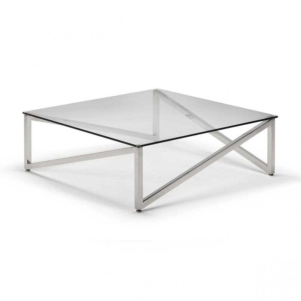 kesterport alpina coffee table clear glass and polished steel frame don mirrored accent nautical furniture folding patio dining narrow bedside ideas gray entry plastic half