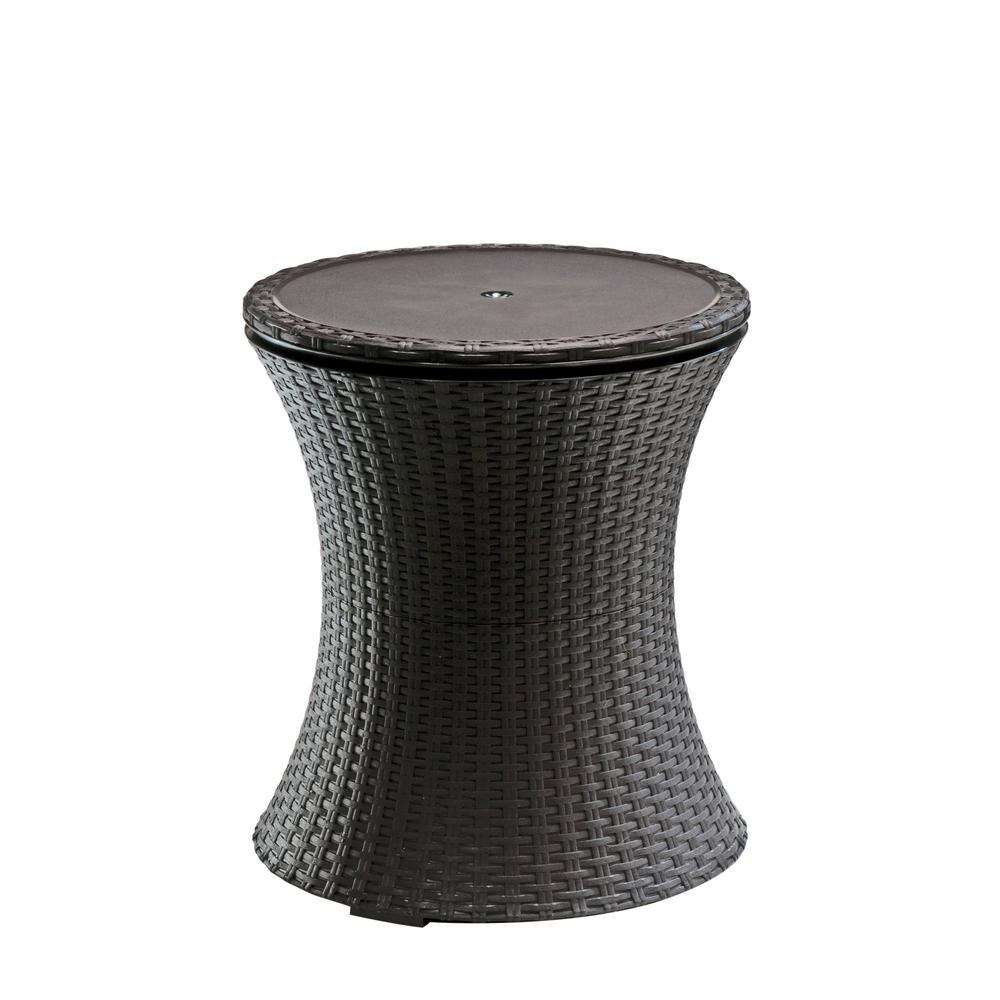 keter cool bar gal resin rattan drink cooler patio table outdoor side tables cement top coffee set round pottery barn mercury glass floor lamp diy living room inch plastic