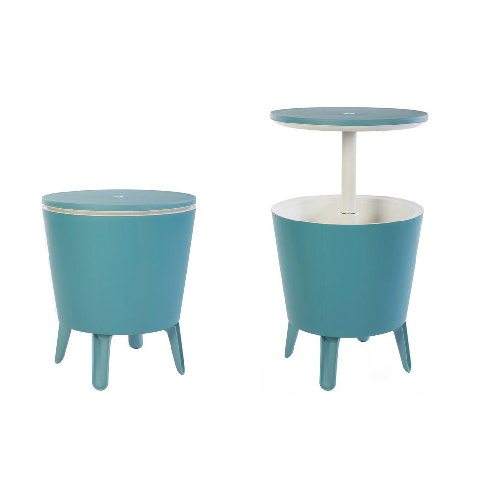 keter cool bar teal resin outdoor accent table and cooler one side tables aqua blue tiffany butterfly lamp original office computer desk work light lamps silver drum brown wicker