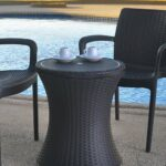 keter gal cool bar rattan style outdoor patio pool cooler table brown side with wicker garden piece nesting set pier tables tall lamps circular cotton tablecloths dale tiffany 150x150