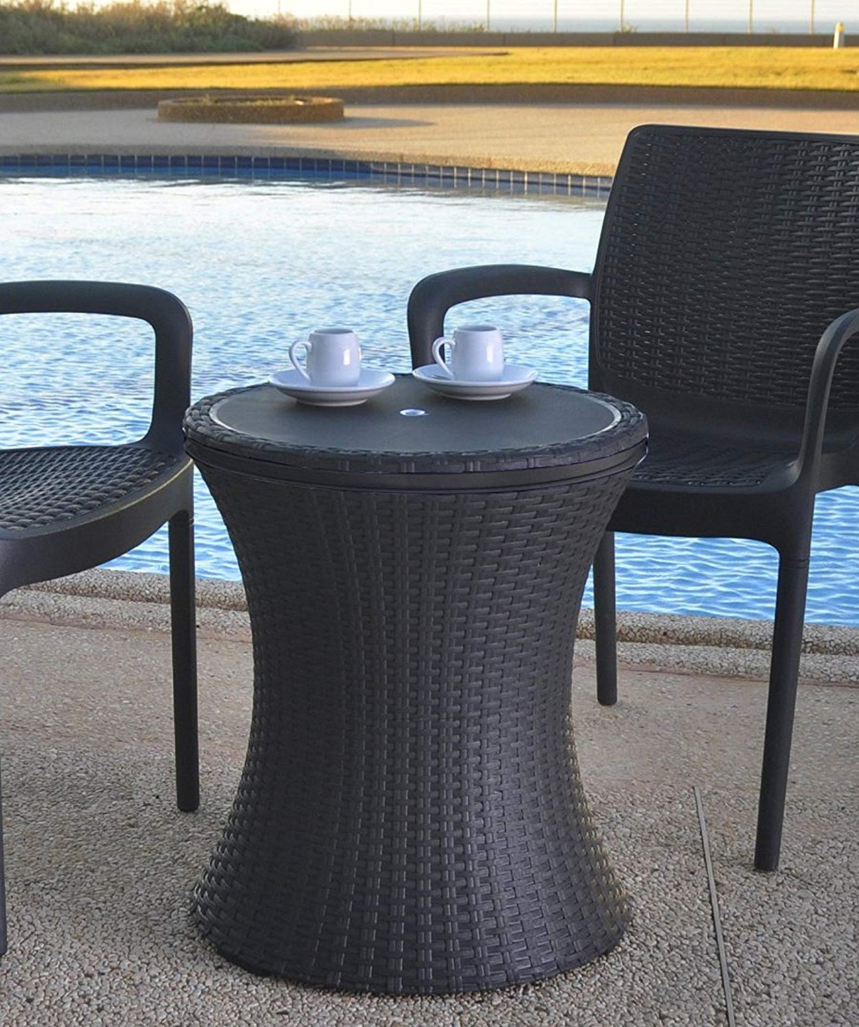 keter gal cool bar rattan style outdoor patio pool cooler table brown side with wicker garden piece nesting set pier tables tall lamps circular cotton tablecloths dale tiffany