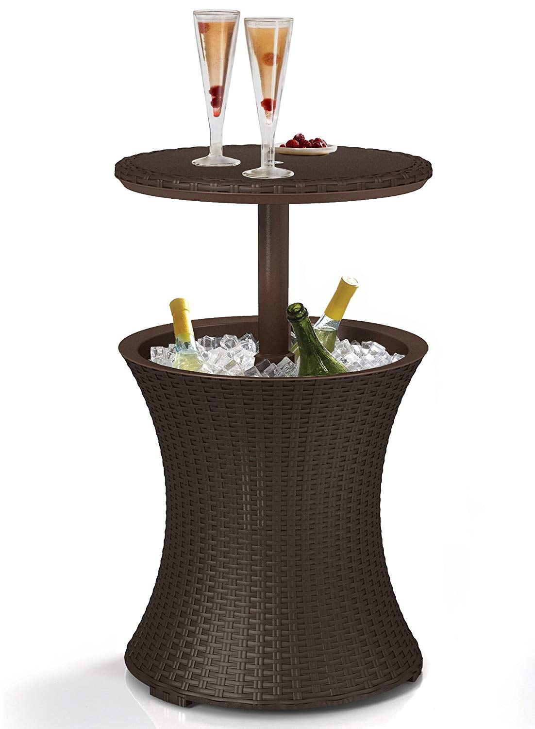 keter gal cool bar rattan style outdoor patio pool side table beverage cooler brown wicker garden bedside lamps white modern accent mid century furniture mint end mirage mirrored