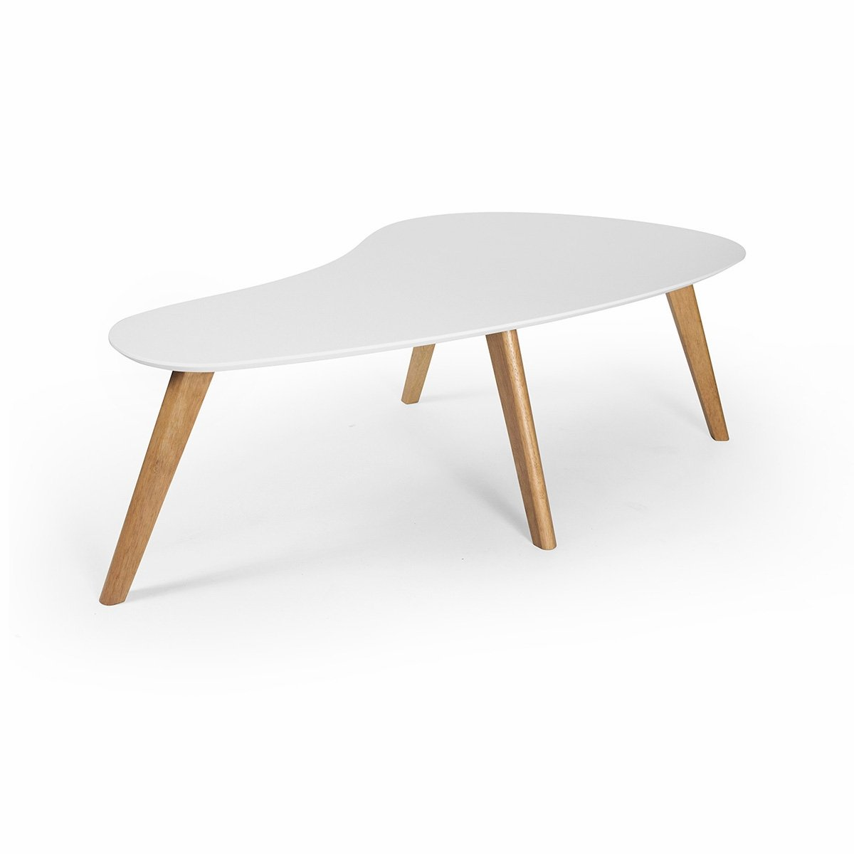 kidney shaped coffee table white kitchen dining accent metal sawhorse legs night outside chairs leick laurent folding and target piece nest tables nautical theme bunnings cushions