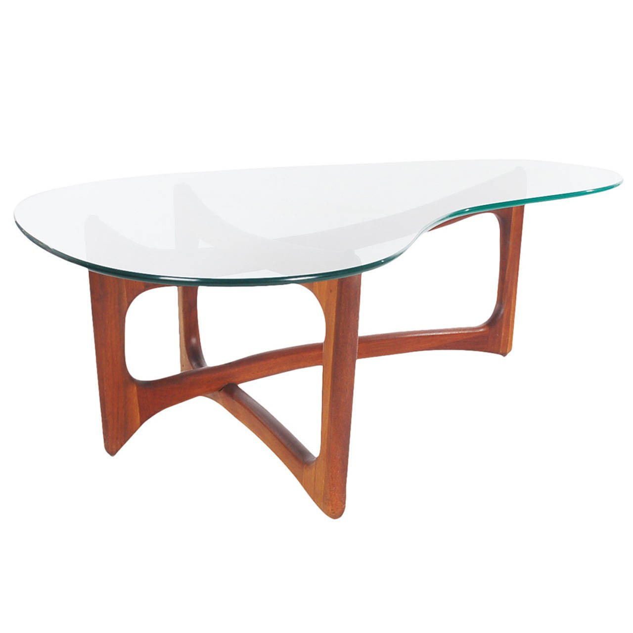 kidney shaped table home interior design trends accent mid century modern walnut and glass coffee tables for west elm floor mirror average side height small couches rooms bunnings