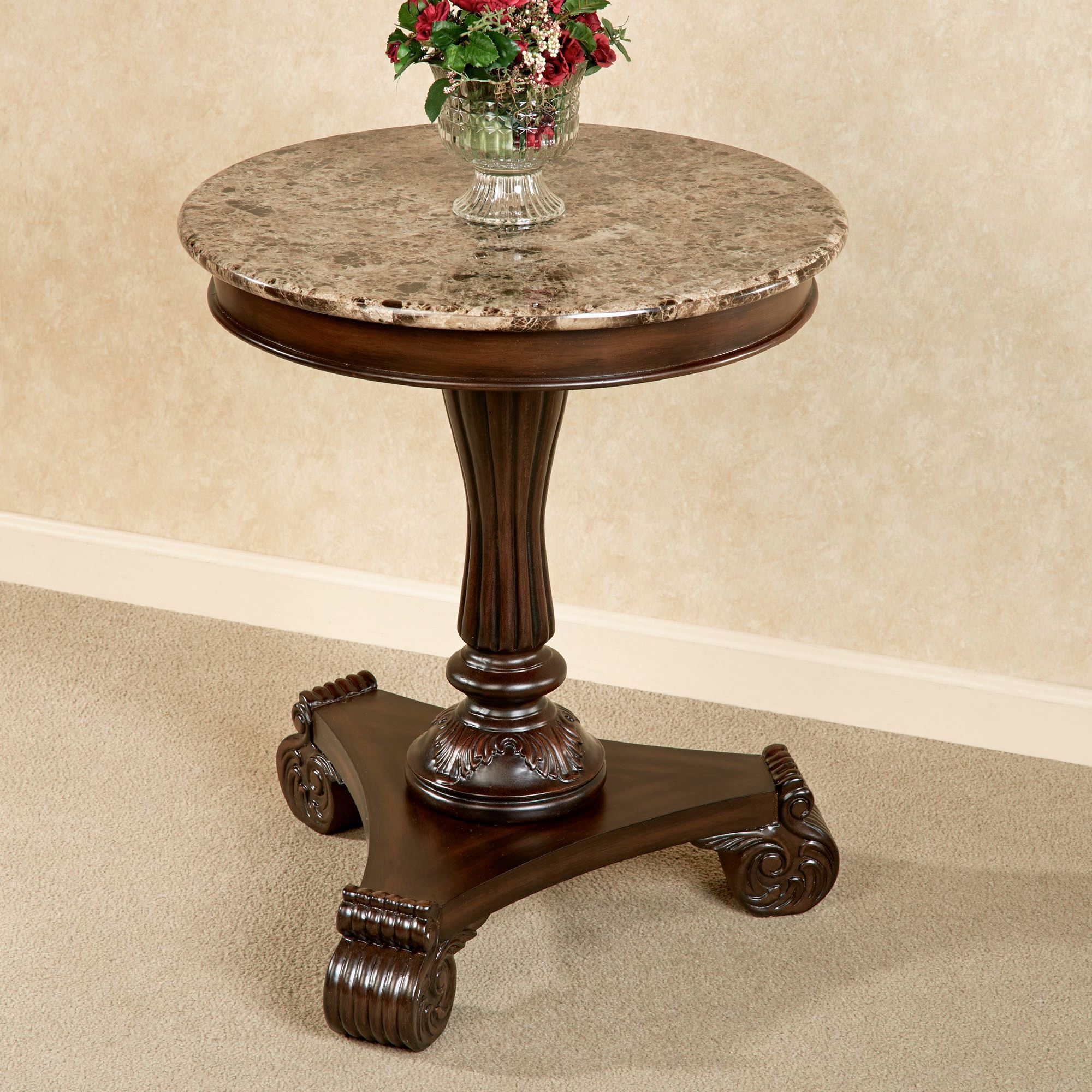 killian marble top round accent table autumn cherry touch zoom black bar height brielle furniture cute tables espresso colored end navy side fretwork coffee utility nesting