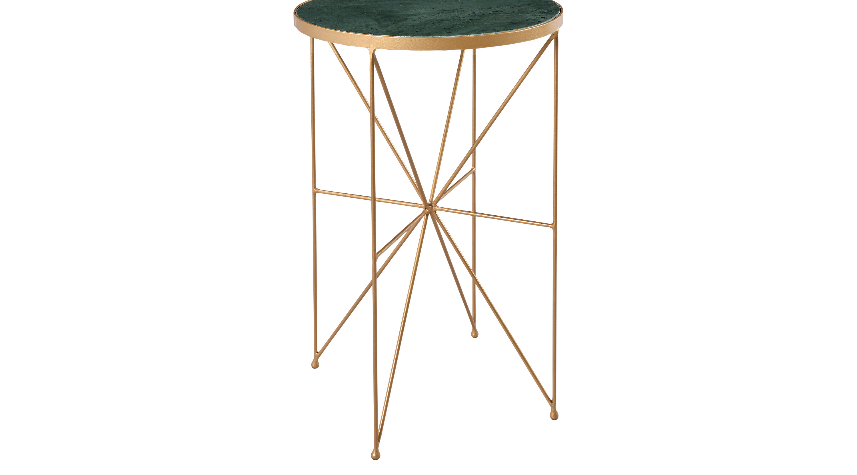 kimana gold accent table stool nautical dining room chandelier multi colored interior design ideas for living teak sofa canadian tire outdoor drop leaf desk large console with