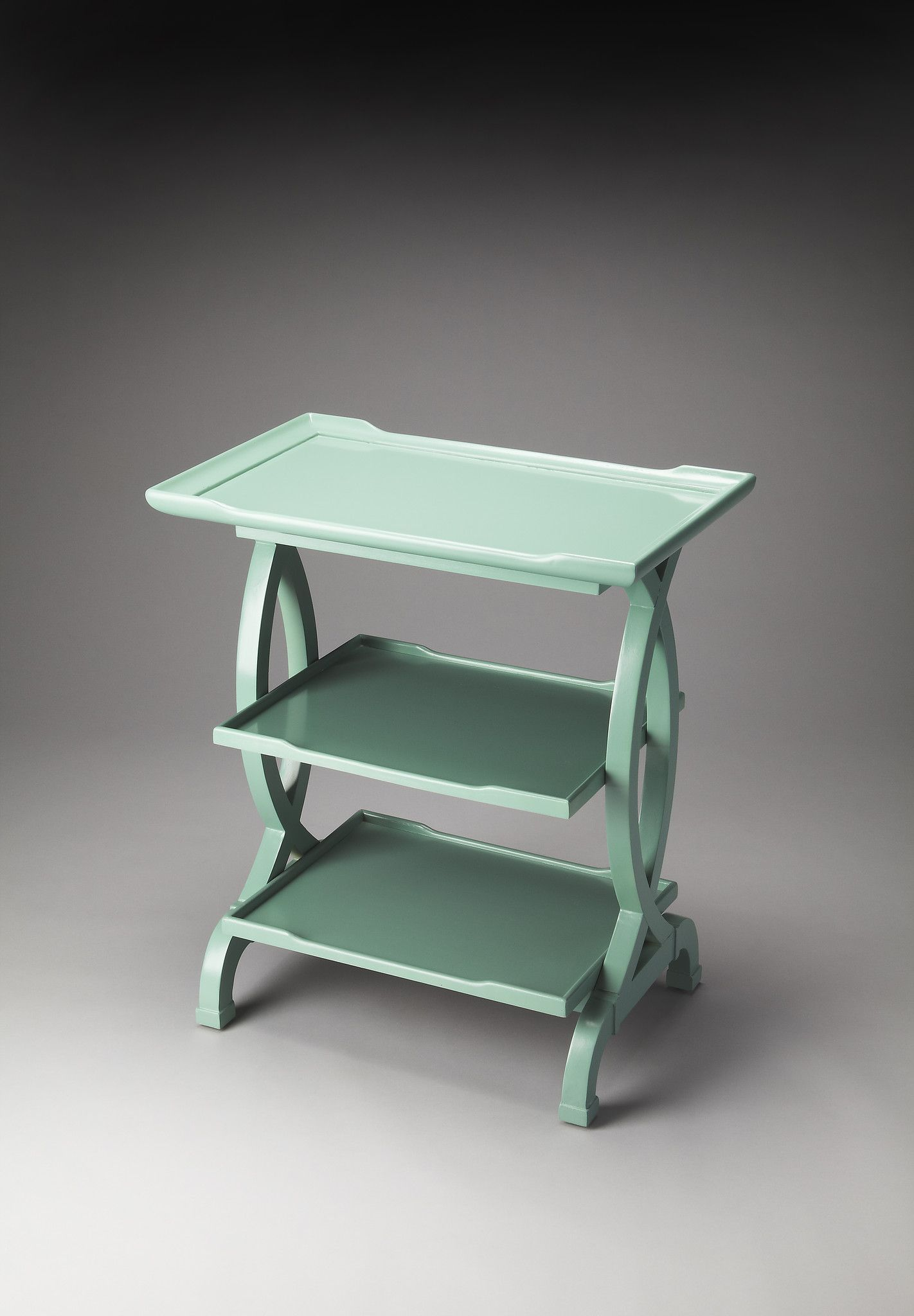 kimiko transitional rectangular side table green mint accent butler loft crsme tall nautical lamp desk legs dining with bench west elm glass floor rattan garden blue living room