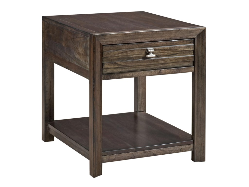 kincaid furniture montreat contemporary end table products color wood one drawer accent threshold montreatmontreat home design cement and chairs woven metal target coffee kijiji