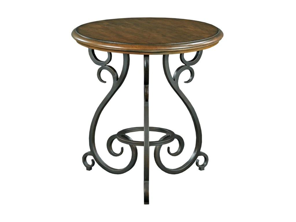 kincaid furniture portolone traditional round accent table with old products color metal portoloneaccent astoria dining coffee tables melbourne ultra modern lamps white marble