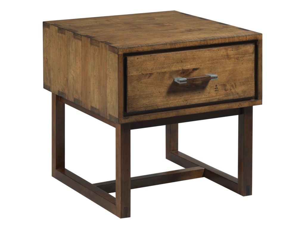 kincaid furniture traverse woodworker modern craftsman end products color live edge accent table brown threshold traversewoodworker drawer round coffee with chairs antique gold