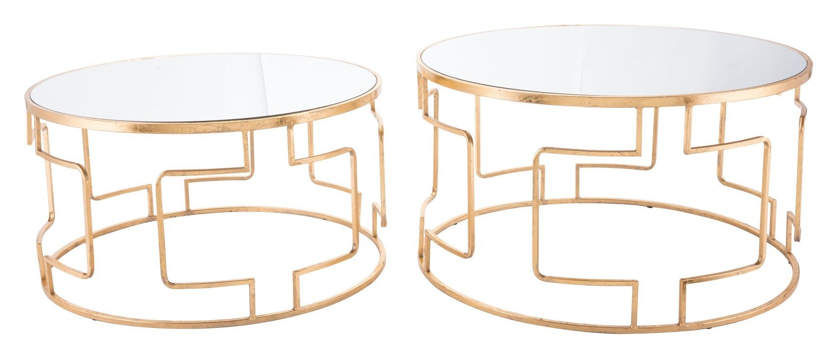 king round accent tables gold with mirrored glass top set side alan decor table sofa high dining chairs aluminium threshold strip mid century chair furniture showrooms bangalore