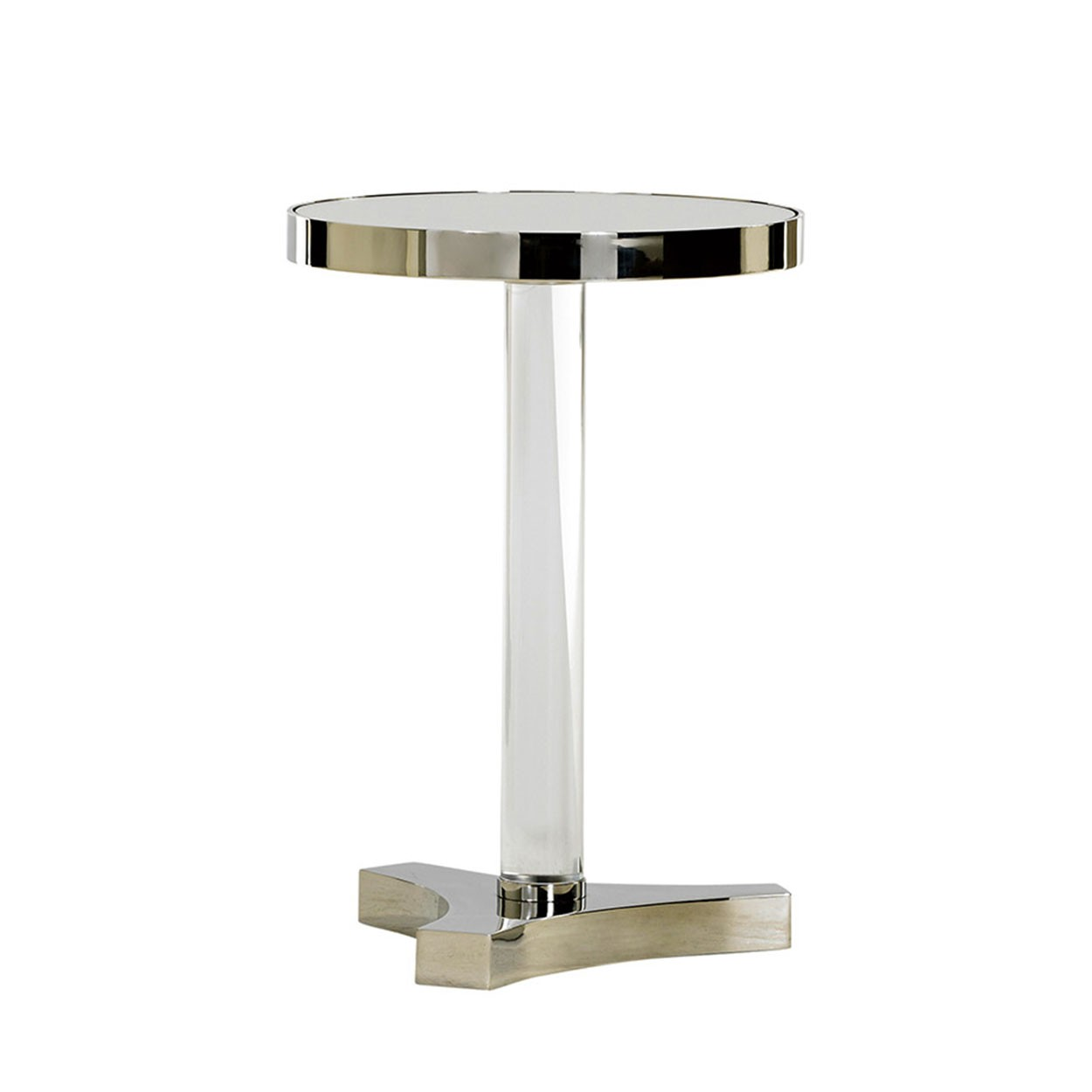 kinnard accent table acrylic stainless lexington semi circle side chrome door threshold steel legs room essentials lamp wedding covers wood and metal nesting tables gold plastic