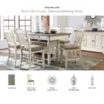 kitchen dining room furniture ashley home accent pieces for table rustic farmhouse bolanburg inch wooden legs contemporary set farm thin cabinet studded chairs christmas placemats 150x150