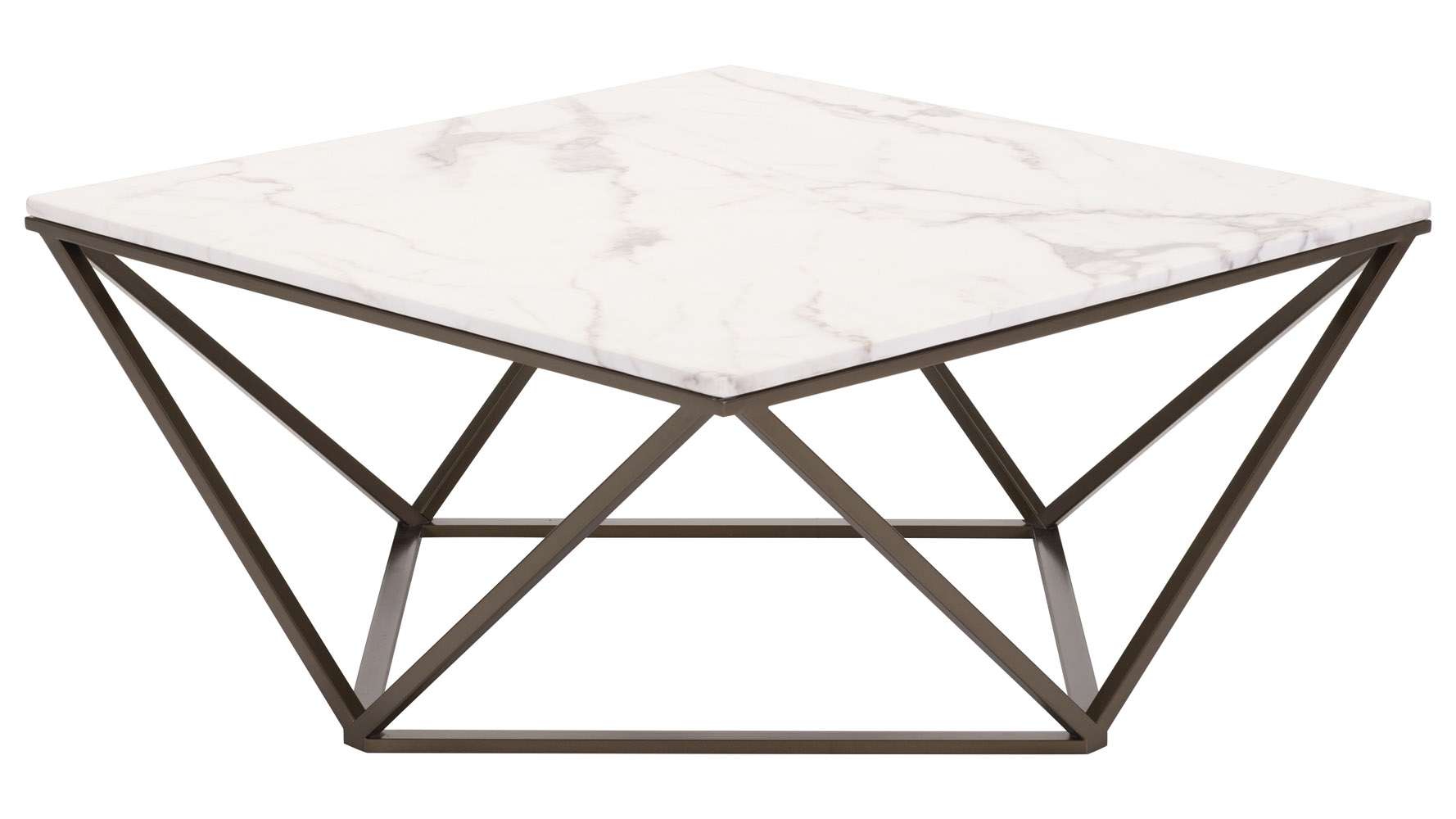 klee faux marble coffee table stone antique brass zuri furniture and accent mouse over zoom click view larger custom made trestle dining room tables edmonton ashley west elm mid