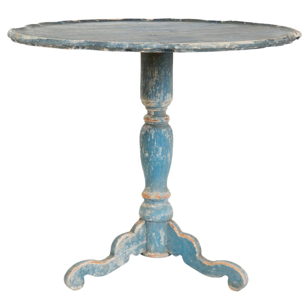 klimt french country swedish blue wood pedestal side table wooden outdoor ikea hobby lobby patio furniture ultra modern lamps large square marble coffee ethan allen ladder back