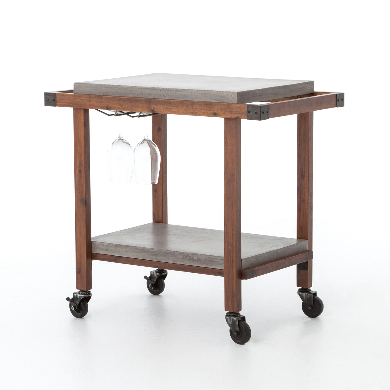 knox bar cart with concrete top zin home vevr prm accent table ethan allen coffee glass bedside lockers west elm urban sectional mahogany tables nautical furniture standard lamps