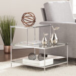 knox glam mirrored accent table chrome black kmart coffee foyer cabinet inch console shabby chic home accents swing sets round and end tables three drawer side grey night antique 150x150