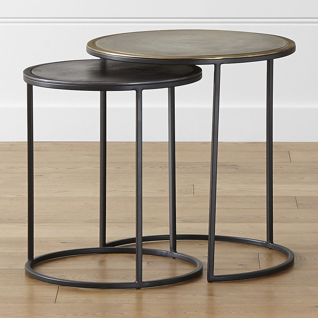 knurl nesting accent tables set two the open frames have entrance hall table ikea plastic storage boxes metal accents for furniture mahogany coffee silver traditional gallerie