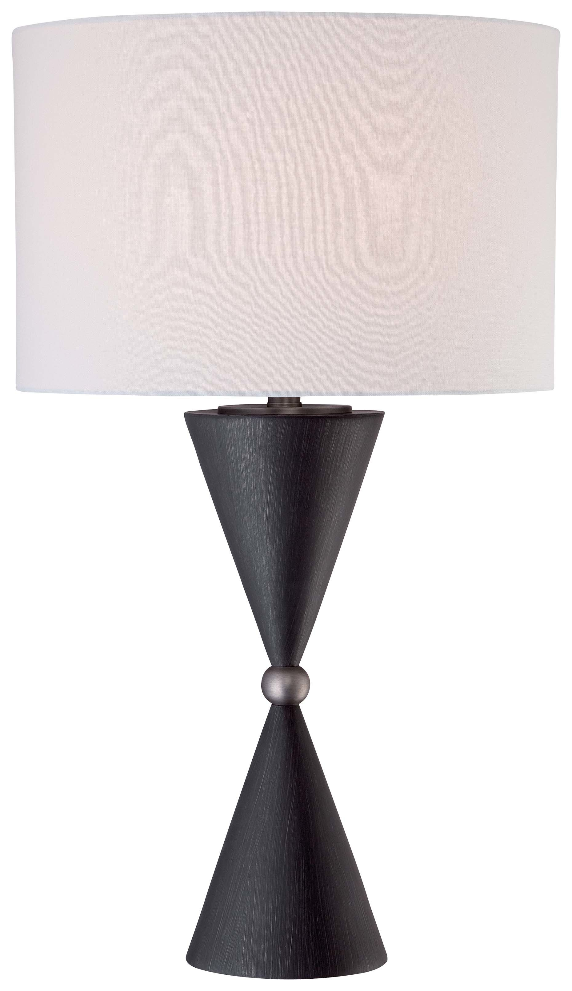 kovacs antique nickel charcoal light height accent table lamp from the portables collection lightingshowplace square marble side round nightstand small half moon hall cool home