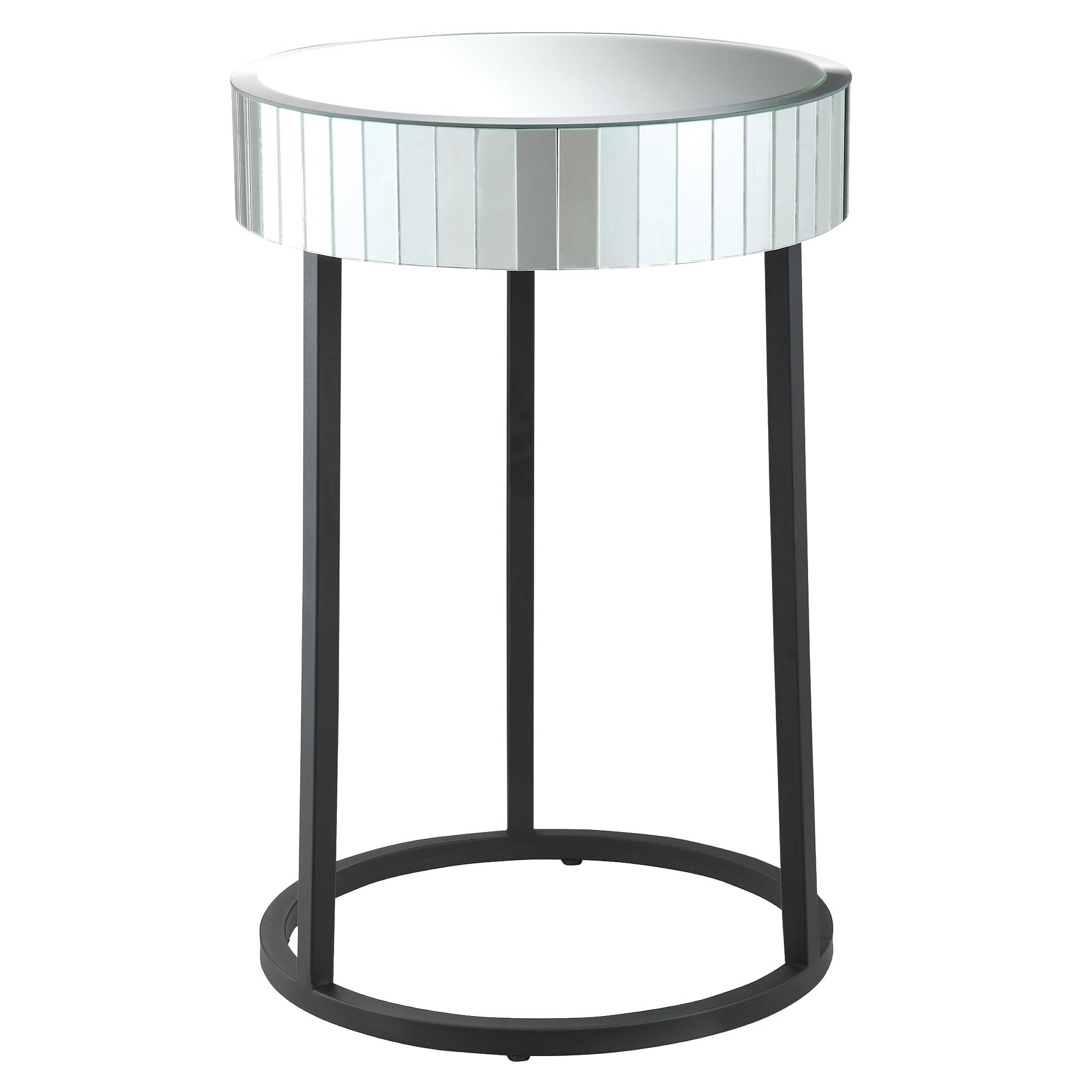 krystal round mirror accent table with metal legs office star black antique dining room half top tulip furniture centerpiece decor floor cabinet small entry console made coffee