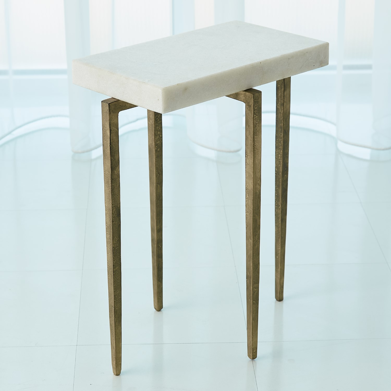 laforge accent table antique gold white honed marble with drawer target bedside furniture bellevue small battery powered lamps old kitchen tables short floor pier one outdoor