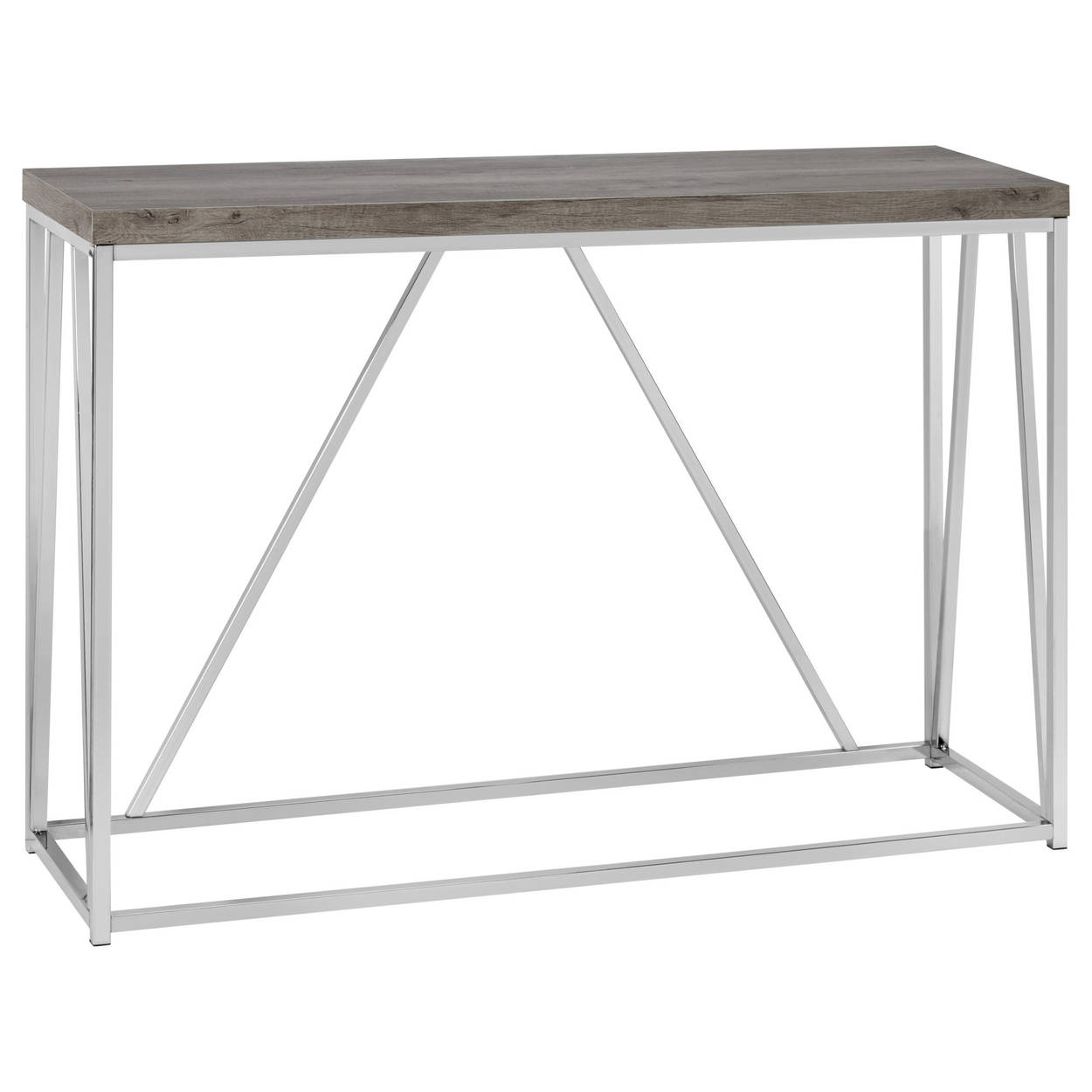 laminated wood and chrome console table bouclair metal glass accent sofa with shelf cupboard decoration mini lamps furniture fargo shower curtain rod purple chair ikea white