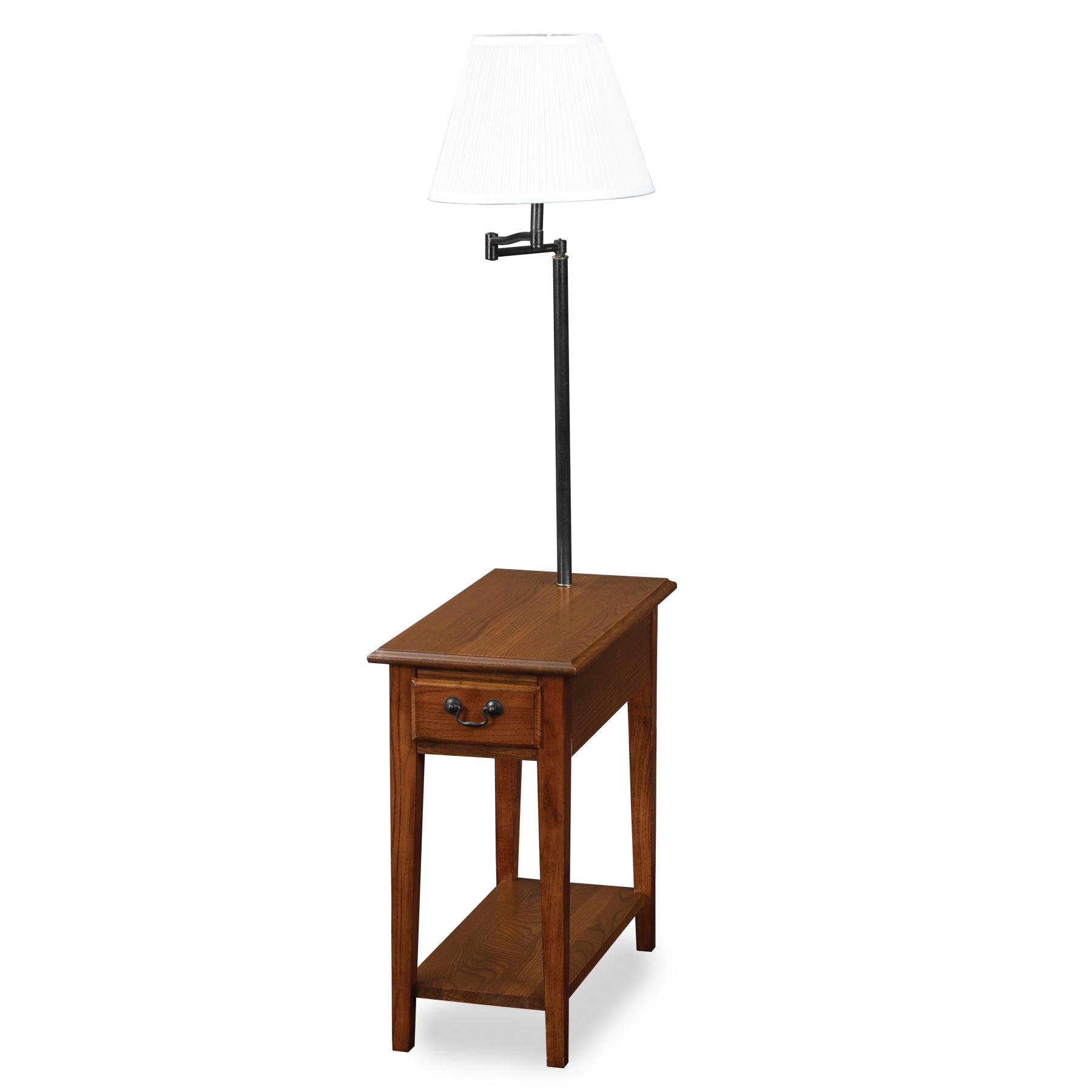 lamp accent table with attached end magazine rack and drawers side built combo lilou white currey very small lamps nightstand set vintage combination floor full size ethan allen