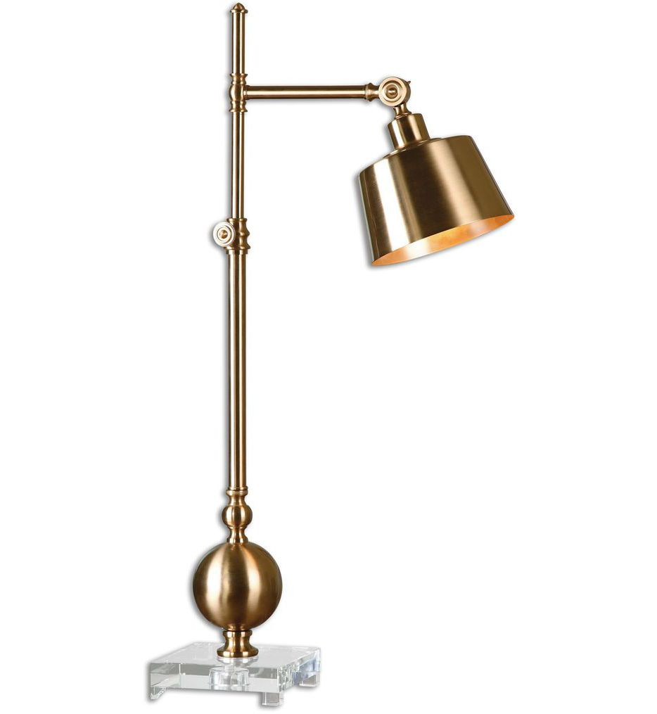 lamps uttermost laton inch table lamp mirrored accent undefined blue and white ginger jar target desks chairs silver trunk coffee dining room linens metal occasional tables
