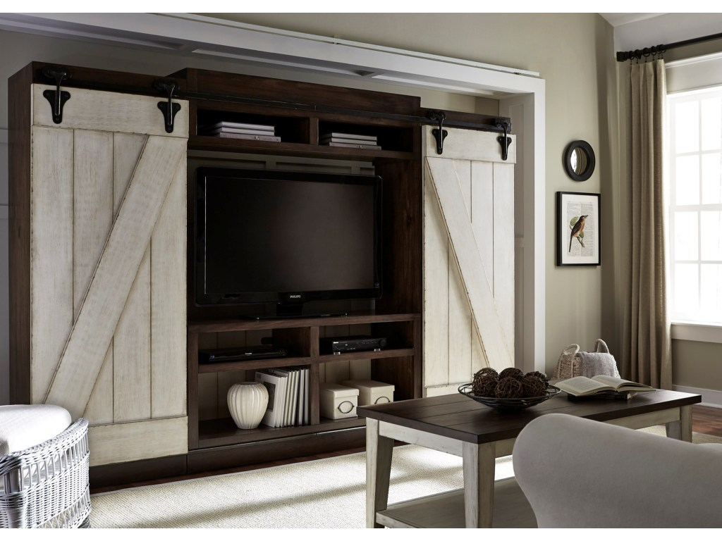 lancaster rustic entertainment center with sliding barn doors products liberty furniture color entw ecp accent table door white outdoor stand mirror small armchair ashley leather