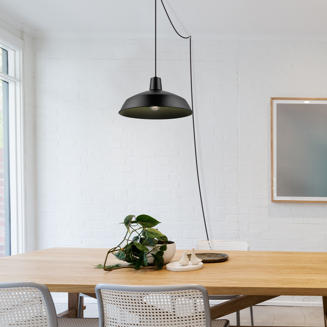 langley street knoxville light geometric pendant birch lane cornelia industrial bowl accent table lighting redmond quickview pipe desk mirrored coffee very nautical rope end white
