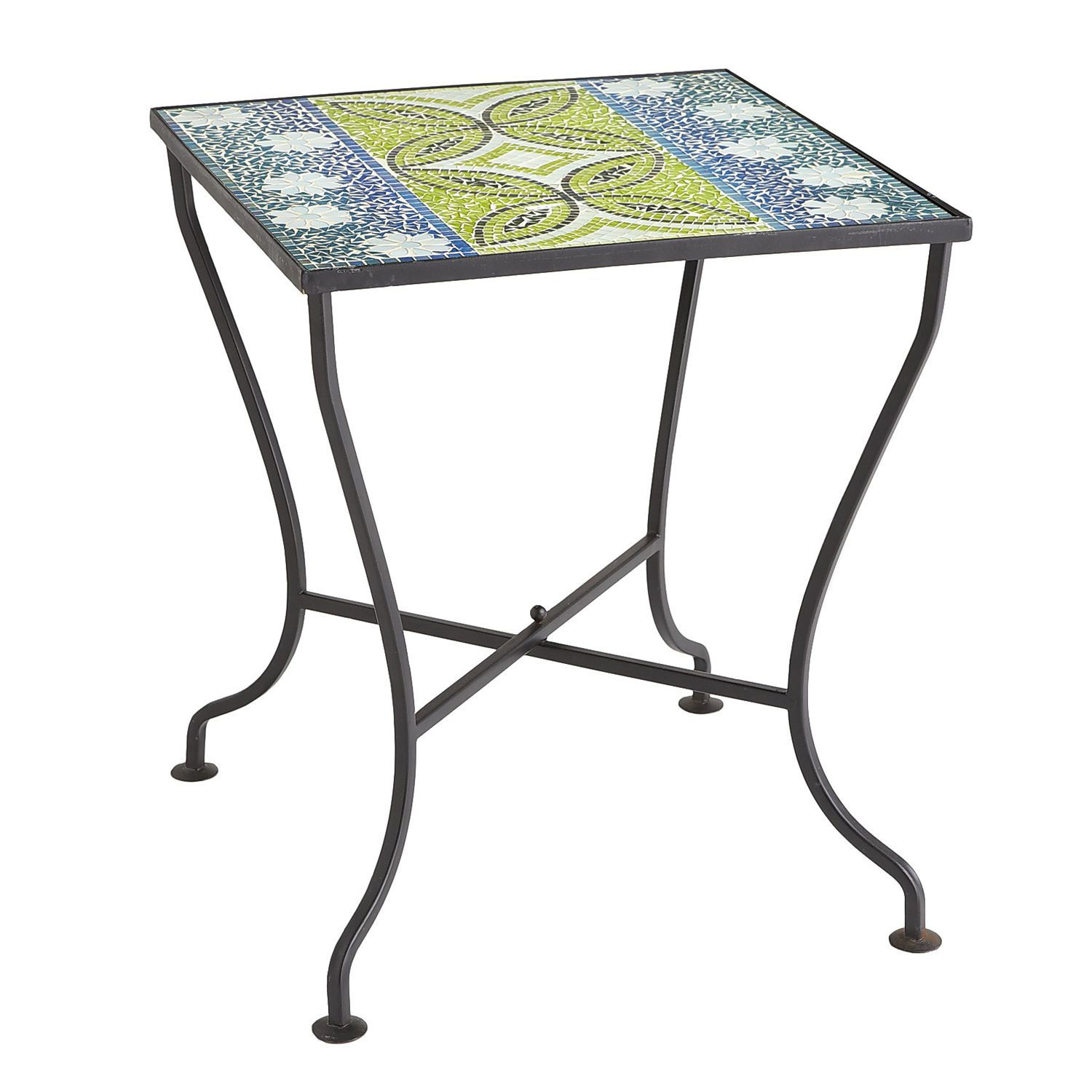lani mosaic accent table pier imports patio outdoor tables side white metal end base west elm bistro corner for dining room dresser with mirror half entryway aurora furniture