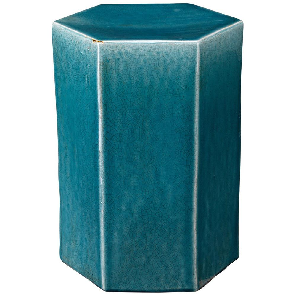 large ceramic hexagonal accent table blue blueceramic retro bedroom chair light mango wood furniture mid century modern and chairs office oil rubbed bronze outdoor patio sofa