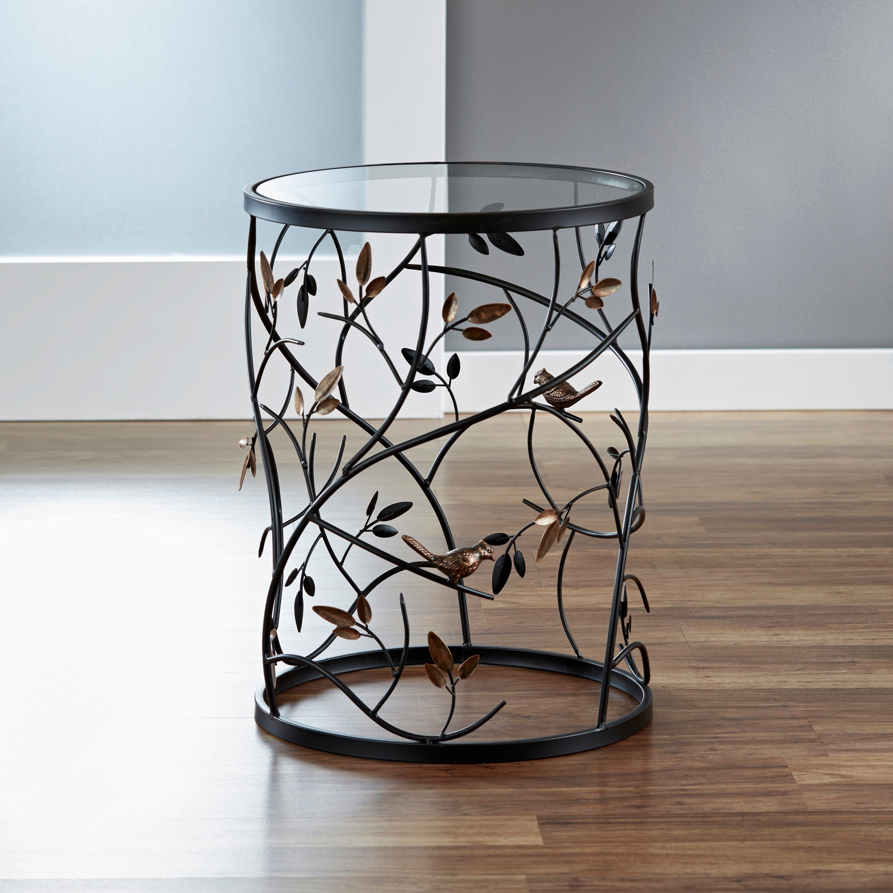 large leaves metal barrel end table free shipping today accent between two chairs chest for bedroom wooden floor lamp industrial drop leaf with folding unfinished wood dresser