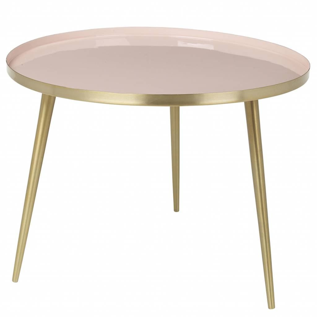 large round accent table the perfect real brass end broste copenhagen scandinavian coffee and cream pink metal glass tables high nightstands nesting black oak furniture homesense