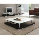 large square glass coffee table essential part any living room this white accent tables occassional chairs side inches high rustic elm cement dining marble set lack target nate 150x150