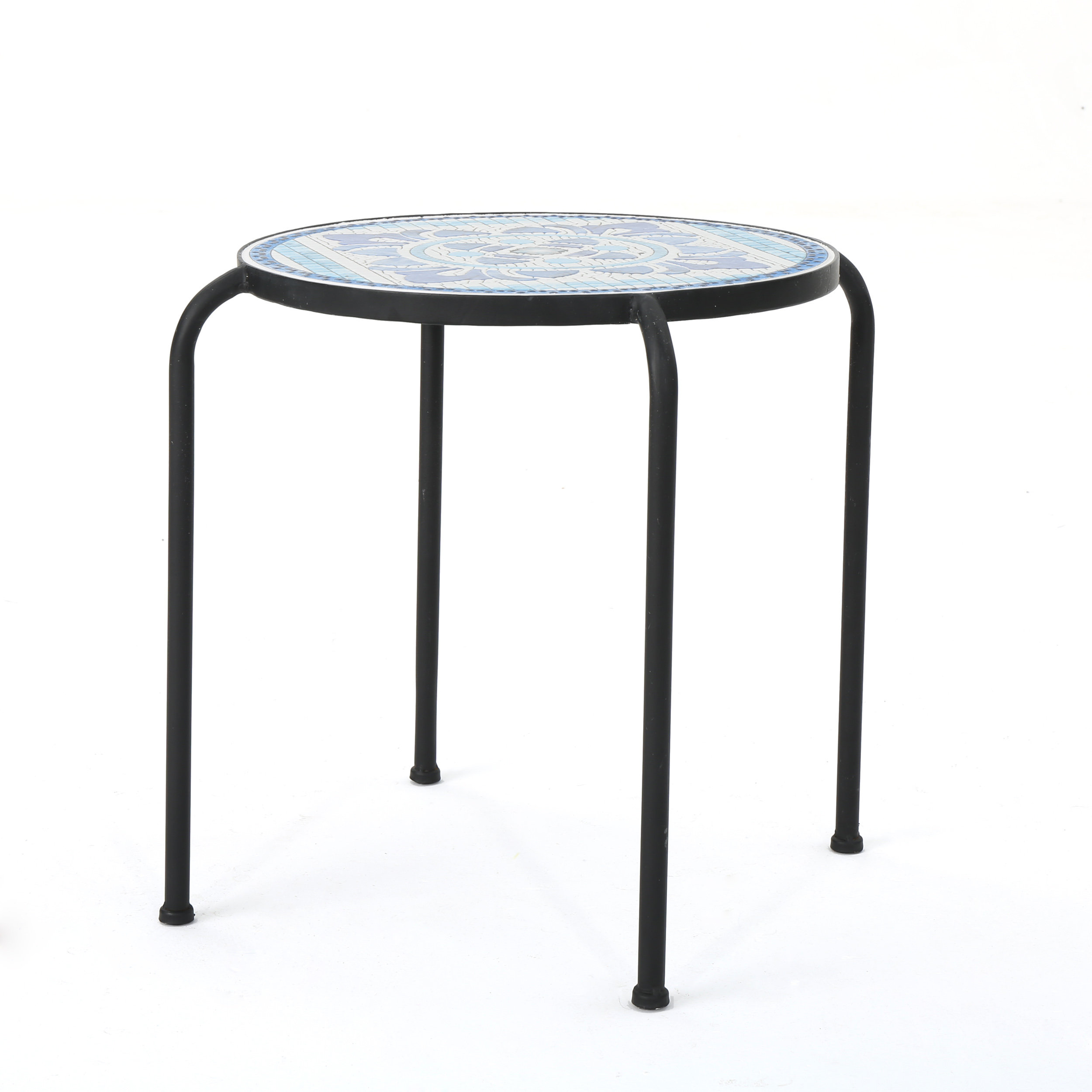 lark manor hayley outdoor side table reviews accent black coffee for sectional kitchen hardware pulls modern concrete door threshold cover round patio with umbrella hole vintage
