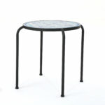lark manor hayley outdoor side table reviews metal furniture couch round pedestal dining teak garden small battery operated accent lamps pottery barn high top brass end glass 150x150