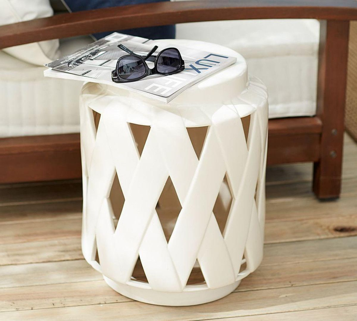 lattice ceramic accent table home inspo pottery barn jamie coastal lamps silver metal cube tables ikea bar large turned legs pier one imports dining room white granite coffee