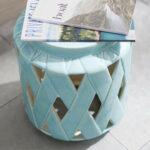 lattice ceramic accent table pottery barn media blue tessa furniture butcher block countertop martha stewart outdoor maple trestle curved console plastic side pier one wicker 150x150